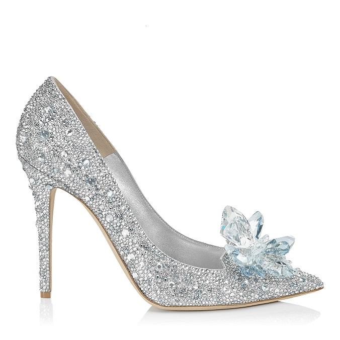Cinderella Shoe designed by Jimmy Choo modern design Jimmy Choo creates modern design Cinderella Shoe worthy of Fairy tale 001arisxu crystal side