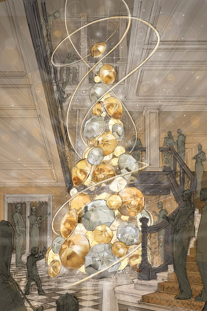 Scratch of Claridge's Christmas Tree 2015 - Luxxu Blog  Claridge's Burberry Tree: design trends at Christmas 2015 Claridges Christmas Tree 2015 Vogue 26Oct15 b1