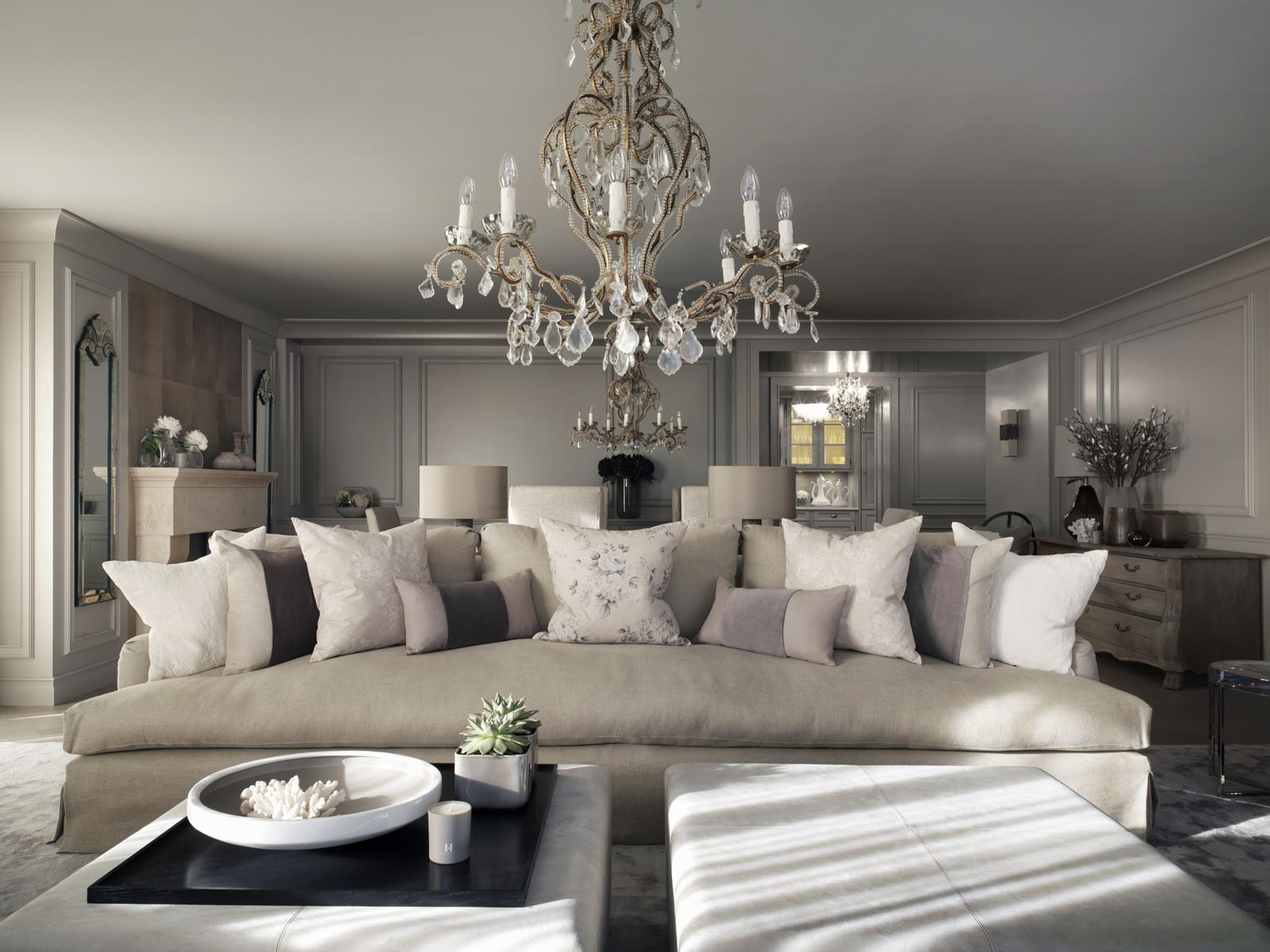 Top 10 kelly hoppen design ideas for Trendy living room