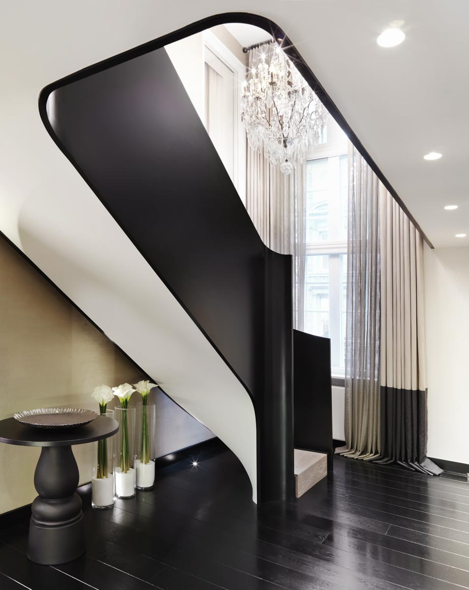 Modern design hallway by Kelly Hoppen kelly hoppen Top 10 Kelly Hoppen Design Ideas pied a terre london2