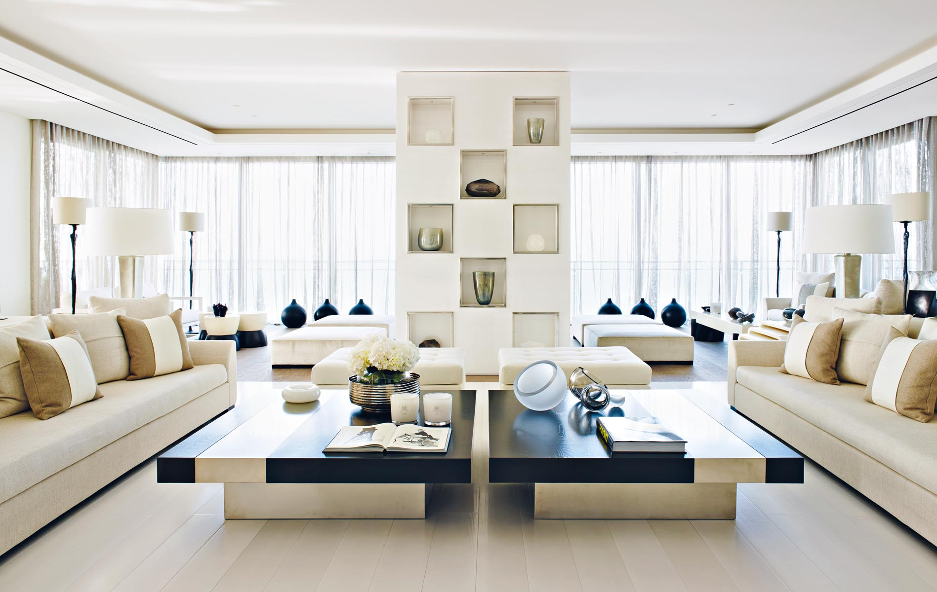 Top 10 kelly hoppen design ideas for Living room interior