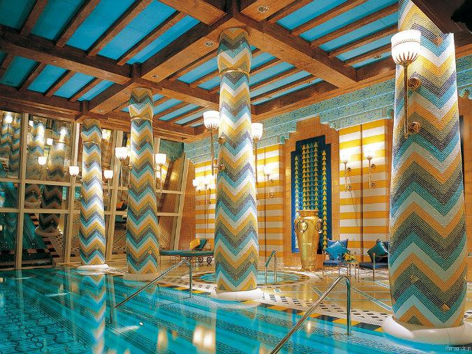 Burj al arab modern design lighting design Most famous hotels with luxurious lighting design Burj al arab