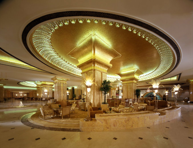Emirates Palace Abu Dhabi modern design lighting design Most famous hotels with luxurious lighting design Emirates Palace Abu Dhabi