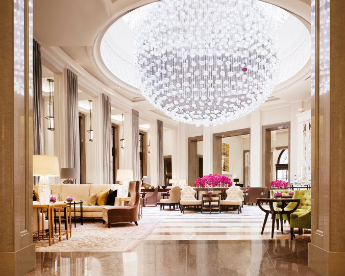 Luxury lighting design  lighting design Most famous hotels with luxurious lighting design The Lobby Lounge Corinthia Hotel London