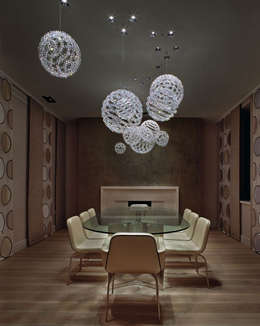 Top 20 pendant luxury lighting for Modern dining room designs 2013