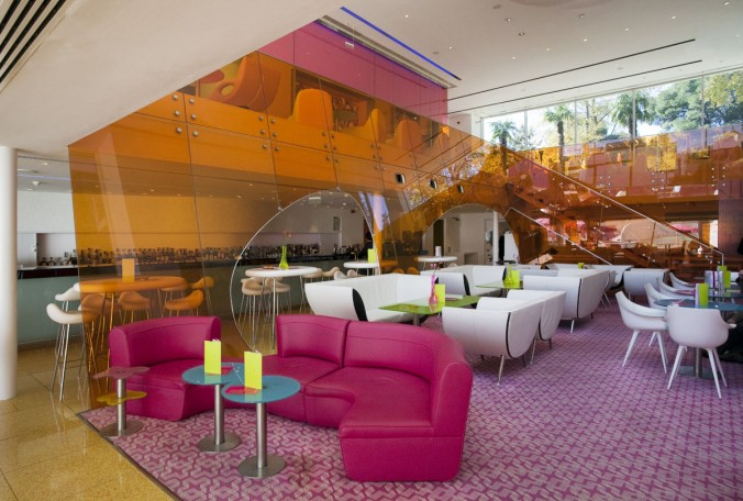 Semiramis Hotel. Yes! Hotels. Athens. Photo by Cathy Cunliffe 2010 Karim Rashid Colorful projects by Karim Rashid Colorful projects by Karim Rashid design restaurant e1455876625635