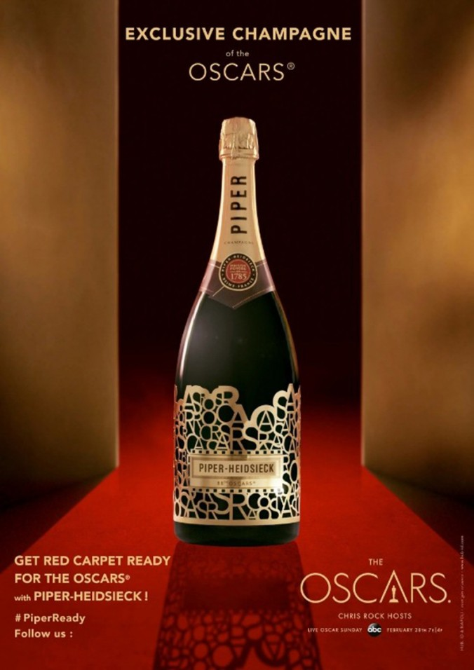 PIPER HEIDSIECK EXCLUSIVE CHAMPAGNE BOTTLE FOR THE OSCARS NIGHT bottle OSCARS NIGHT PIPER HEIDSIECK EXCLUSIVE CHAMPAGNE BOTTLE FOR THE OSCARS NIGHT PIPER HEIDSIECK EXCLUSIVE CHAMPAGNE BOTTLE FOR THE OSCARS NIGHT bottle e1456481327912