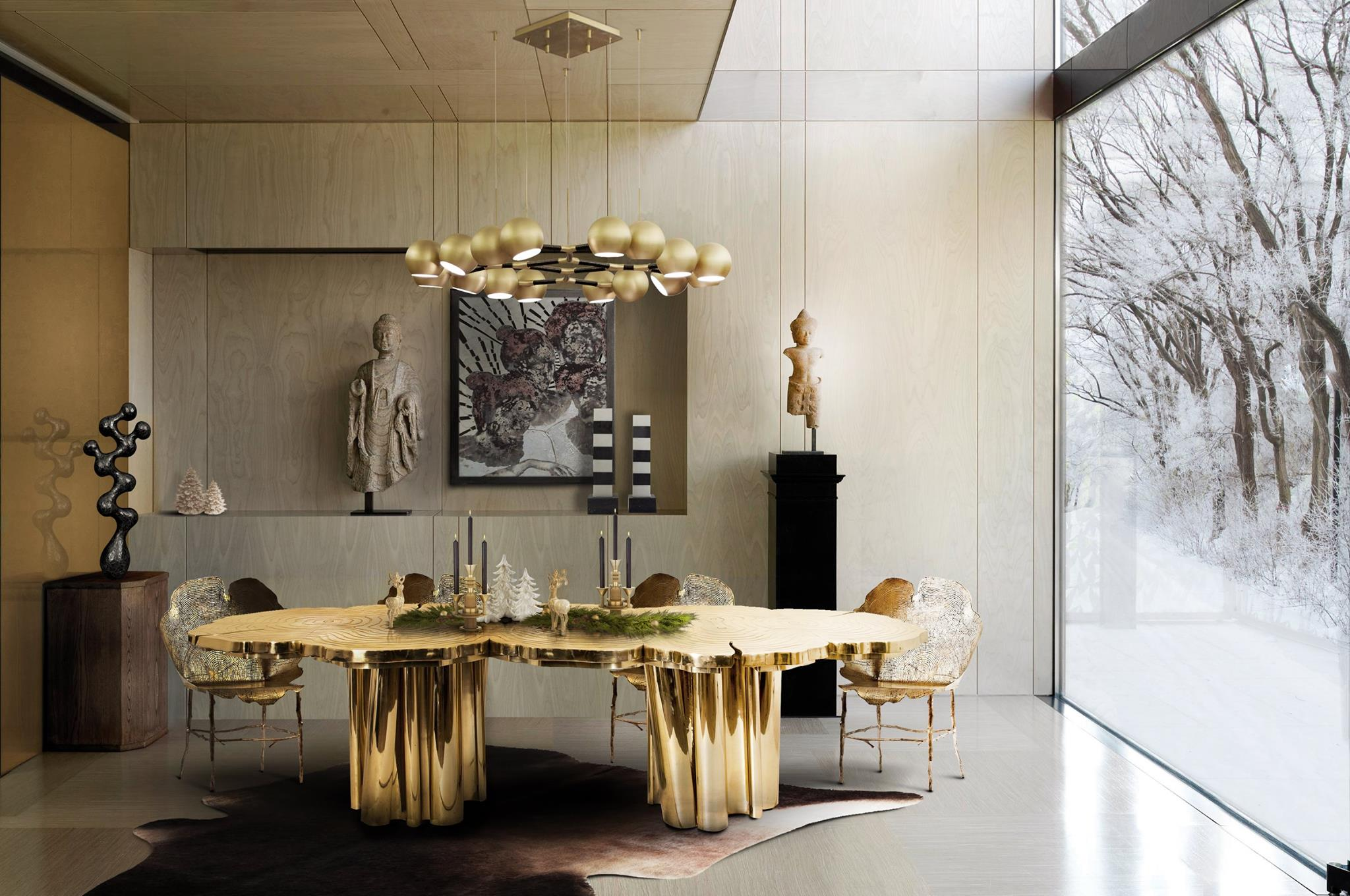 Luxurious suspension lamps for your dining room for Dining room or there is nothing