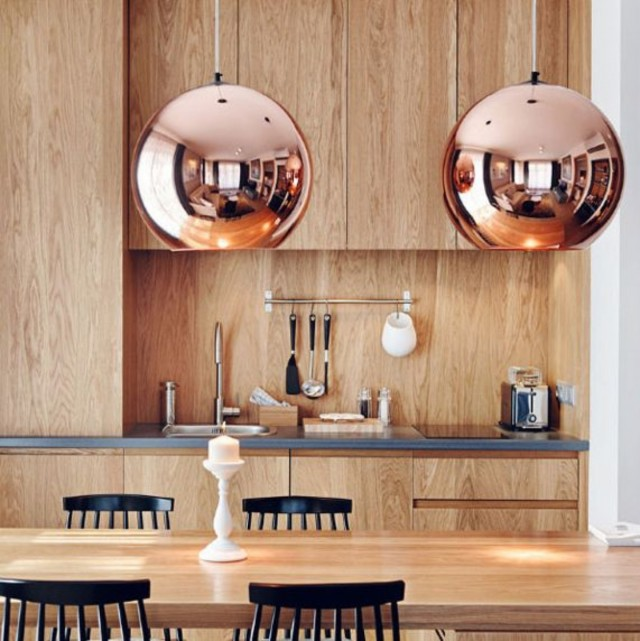 Copper and golden lighting designs for your home decor