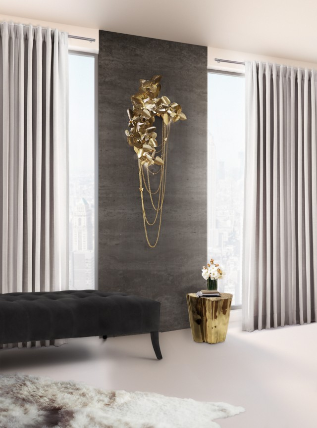 wall lamp Gold wall lamps to create a sophisticated decoration mcqueen2 e1460629821515
