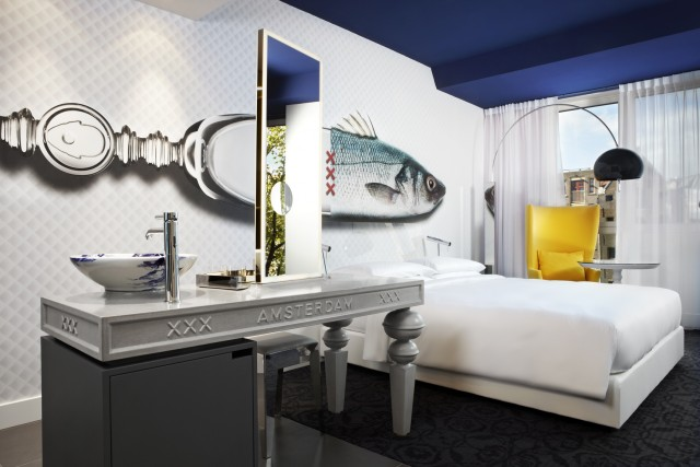 Marcel Wanders Take a look at Andaz Amsterdam Hotel by Marcel Wanders Take a look at Andaz Amsterdam Hotel by Marcel Wanders bedroom e1463481363977