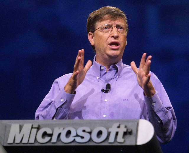 Microsoft Chairman and Chief Software Architect Bill Gates delivers the keynote address to the Microsoft Professional Developers Conference October 23, 2001 in Los Angeles. During has speech, Gates discussed various aspects of the new 'XML' technology and the Windows XP operating system, to be formally unveiled October 25 in New York. PHOTO CREDIT: LEE CELANO/Microsoft The most richest people The most richest people of 2016 The most richest people of 2016 bill gates 1