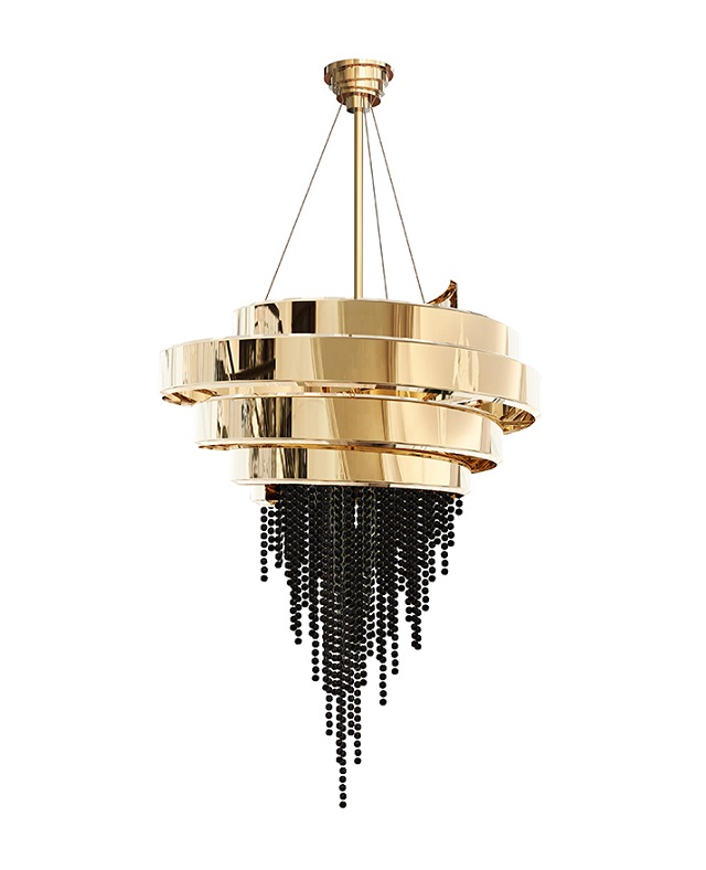5 Gold chandeliers with crystals to light up your world Gold chandeliers 5 Gold chandeliers with crystals to light up your world guggenheim chandelier