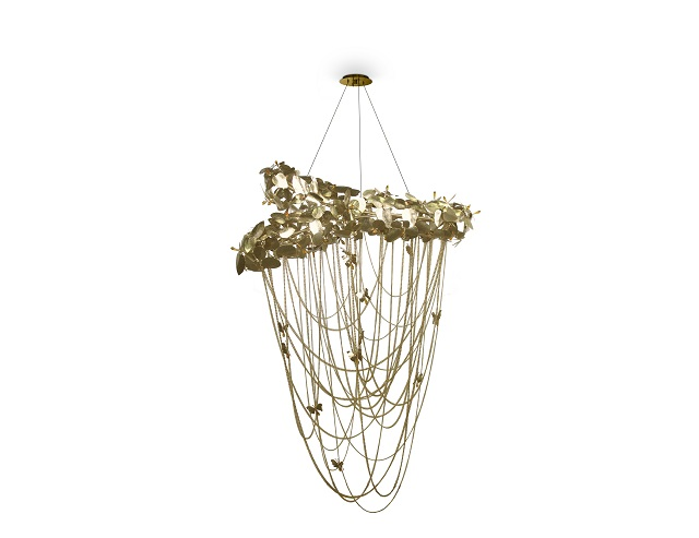 5 Gold chandeliers with crystals to light up your world Gold chandeliers 5 Gold chandeliers with crystals to light up your world mcqueen chandelier 01 1 1