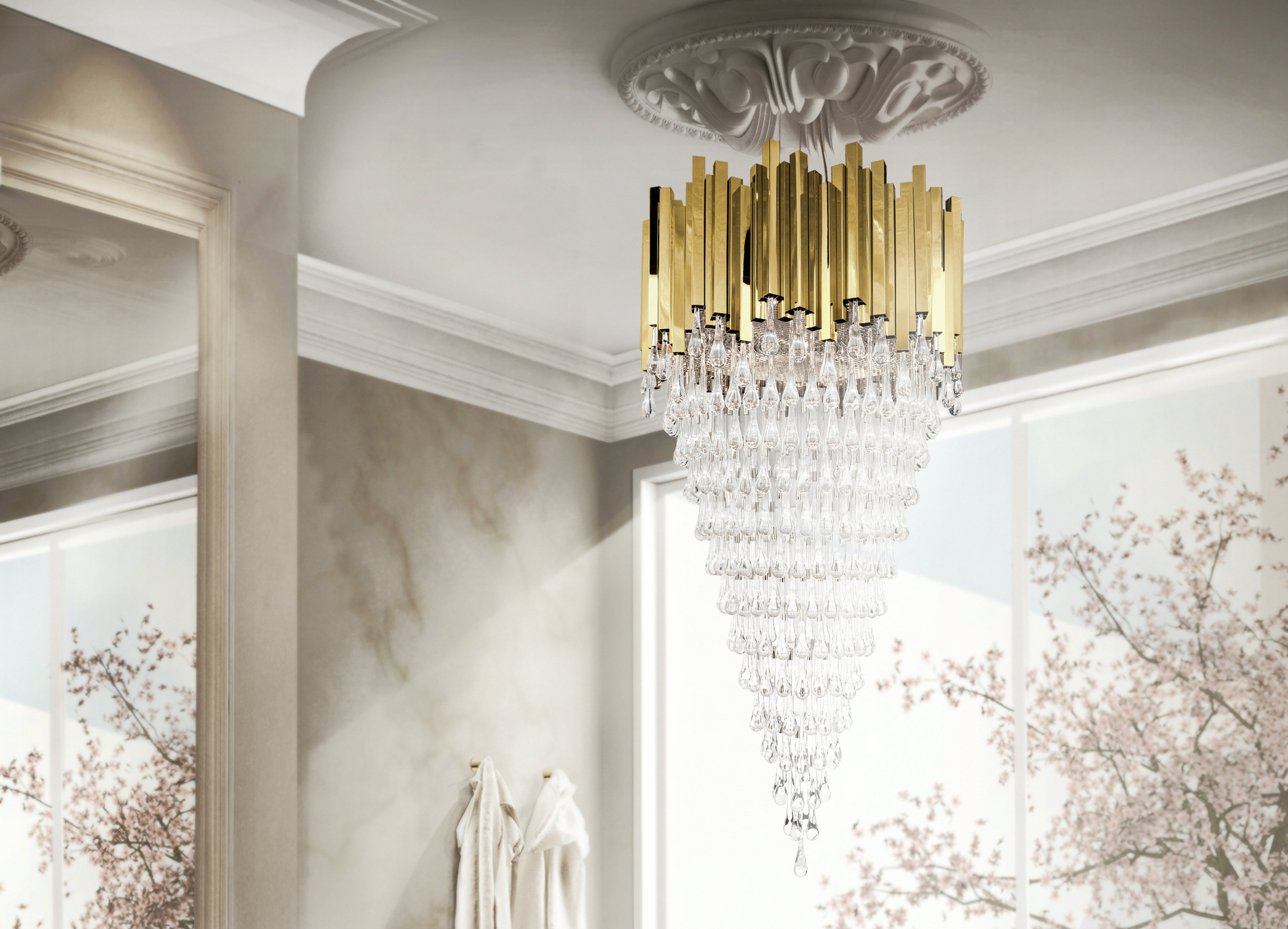 5 Gold chandeliers with crystals to light up your world