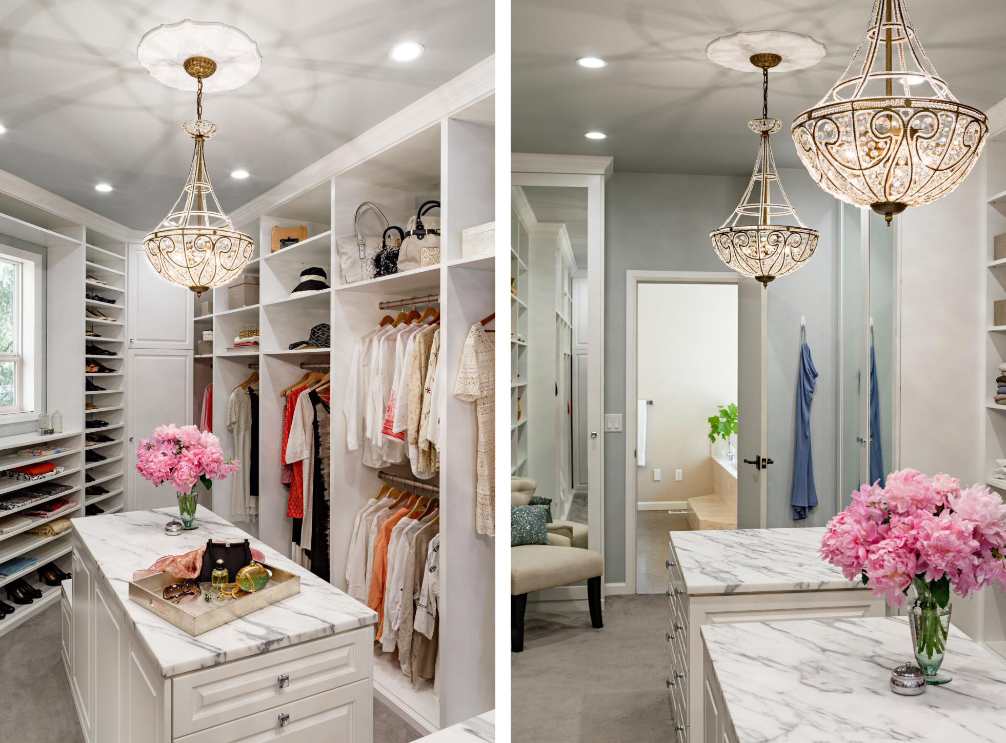 Calcatta Marble Style Master Luxury Closets Interior Design For Woman Best