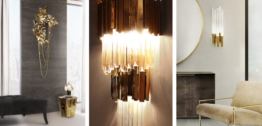 Luxury design wall lights by luxxu to create a glamorous decor