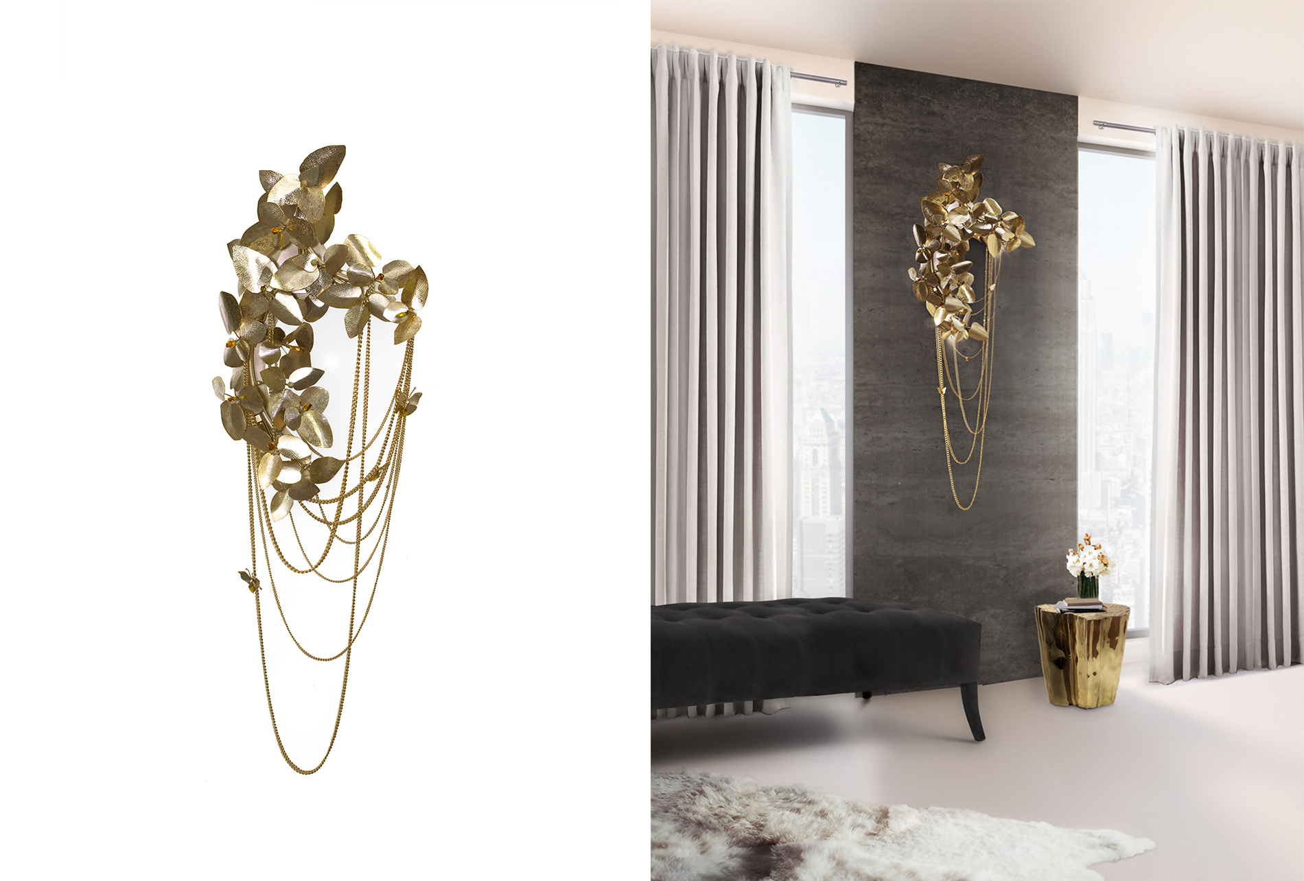 McQueen Wall Lamp wall lights Luxury design: wall lights by Luxxu to create a glamorous decor McQueen Wall Lamp