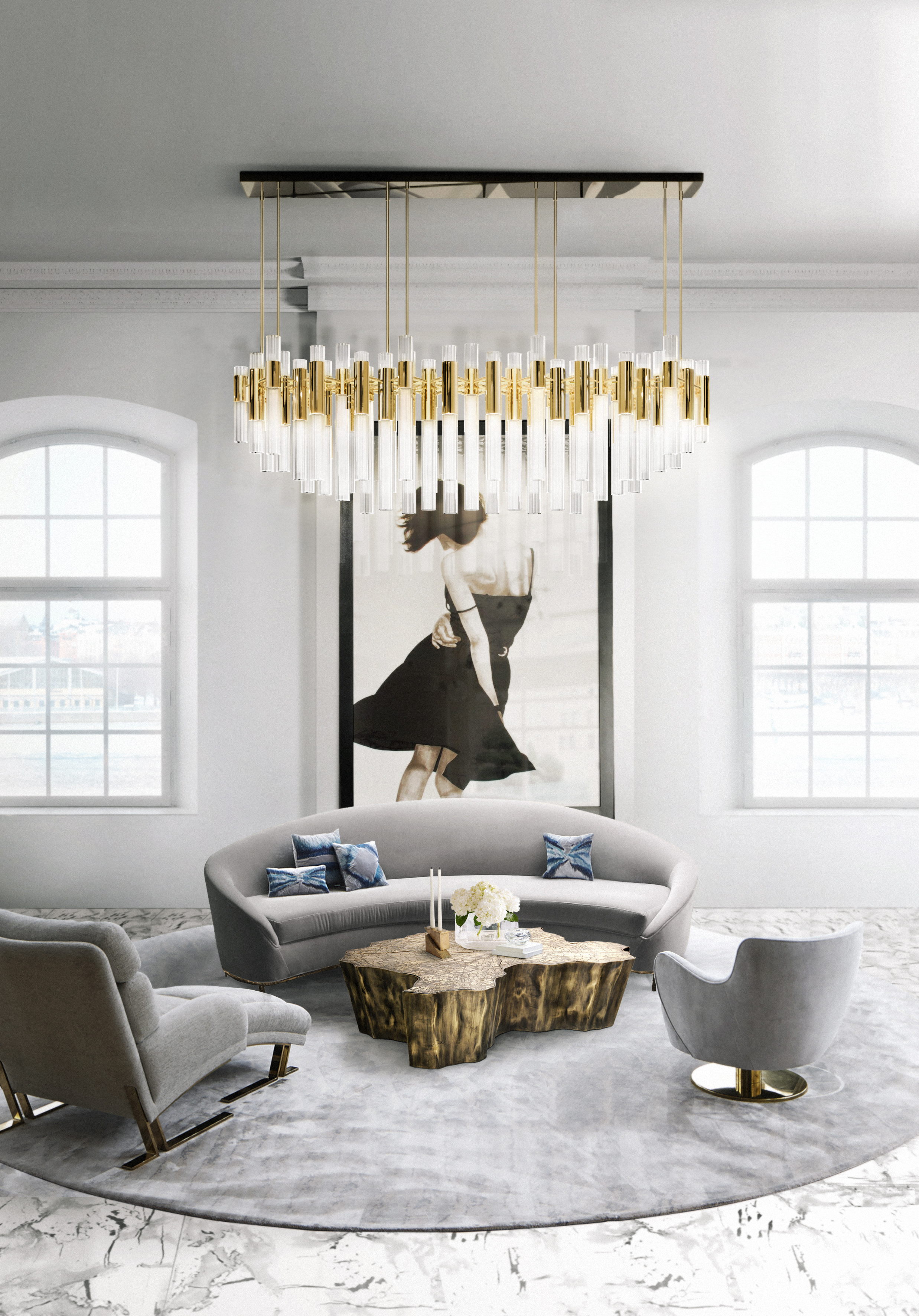 Waterfall Luxury Chandeliers luxury chandeliers Luxury Chandeliers: Luxxu's selection for splendor in any scenario Waterfall Chandelier