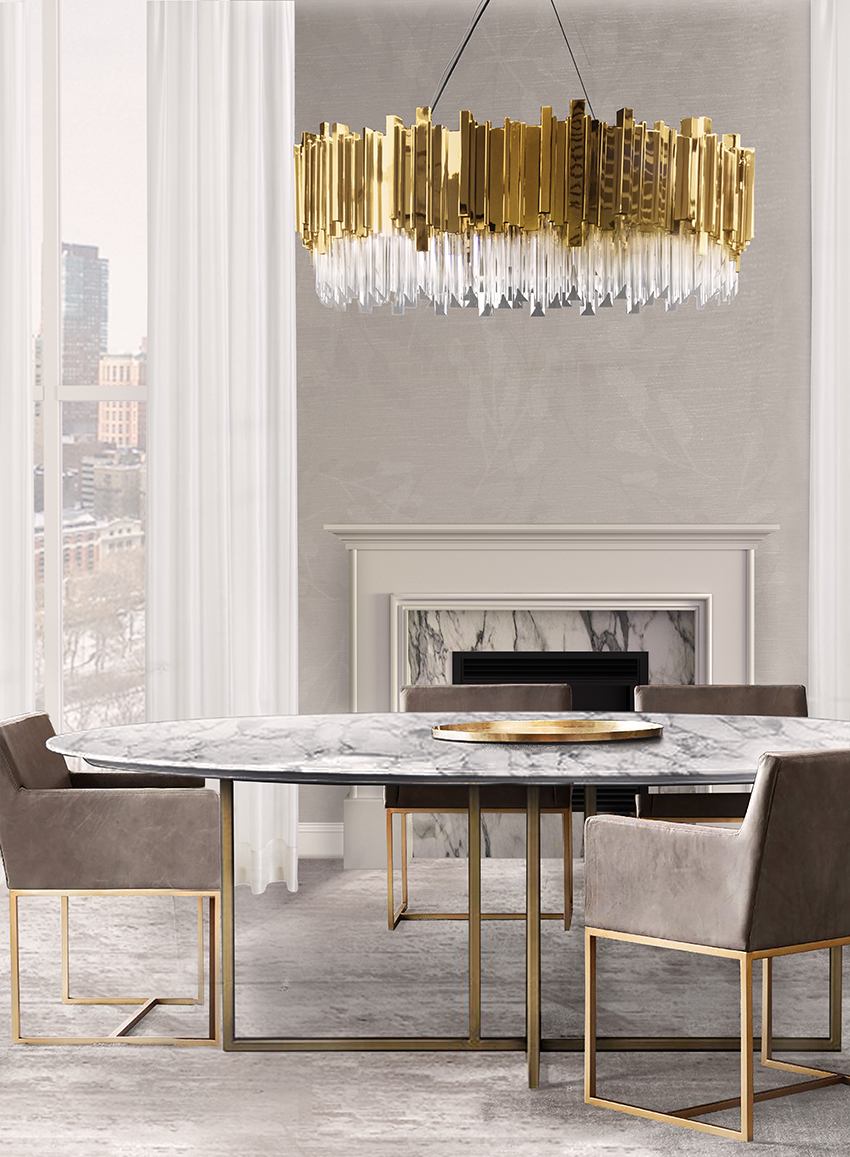 Dining room lighting ideas for a luxury interior - Dining room chandelier contemporary style ...