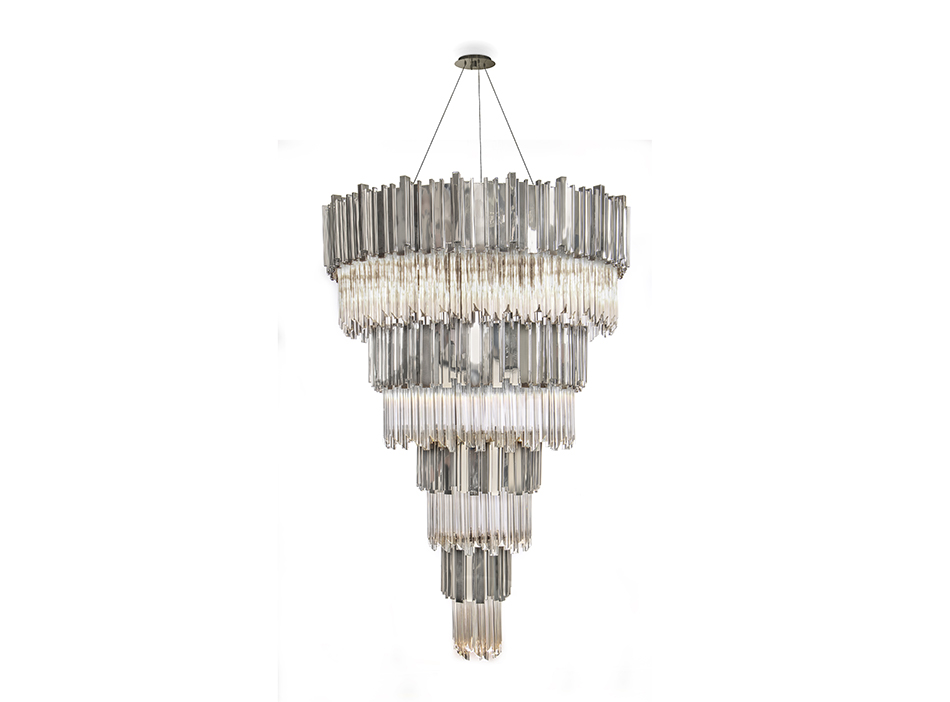 Empire Chandelier Silver Ambar Finishes finishes LUXXU's finishes for all tastes Empire Chandelier Silver Ambar Finishes