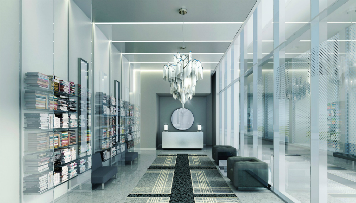 Karl Lagerfelf lobbies are all about luxury and modernity