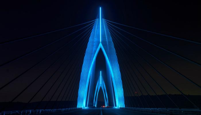 The fantastic lighting design of Africa's longest cable-stayed bridge - Philips Color Kinetics lighting design The fantastic lighting design of Africa's longest cable-stayed bridge The fantastic lighting design of Africa   s longest cable stayed bridge Philips Color Kinetics 1