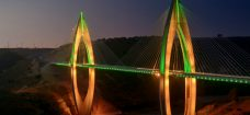 The fantastic lighting design of Africa's longest cable-stayed bridge