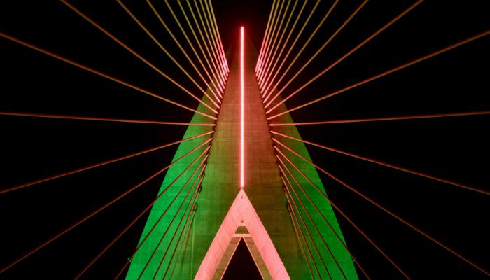 The fantastic lighting design of Africau0027s longest cable-stayed bridge - lighting system lighting design & The fantastic lighting design of Africau0027s longest cable-stayed bridge azcodes.com