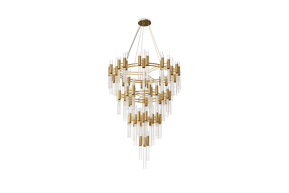 Waterfall Chandelier Gold Plated finishes LUXXU's finishes for all tastes Waterfall Chandelier Gold Plated Finishes