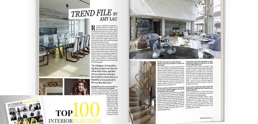 Top 100 Interior Designers Selected by Coveted Magazine