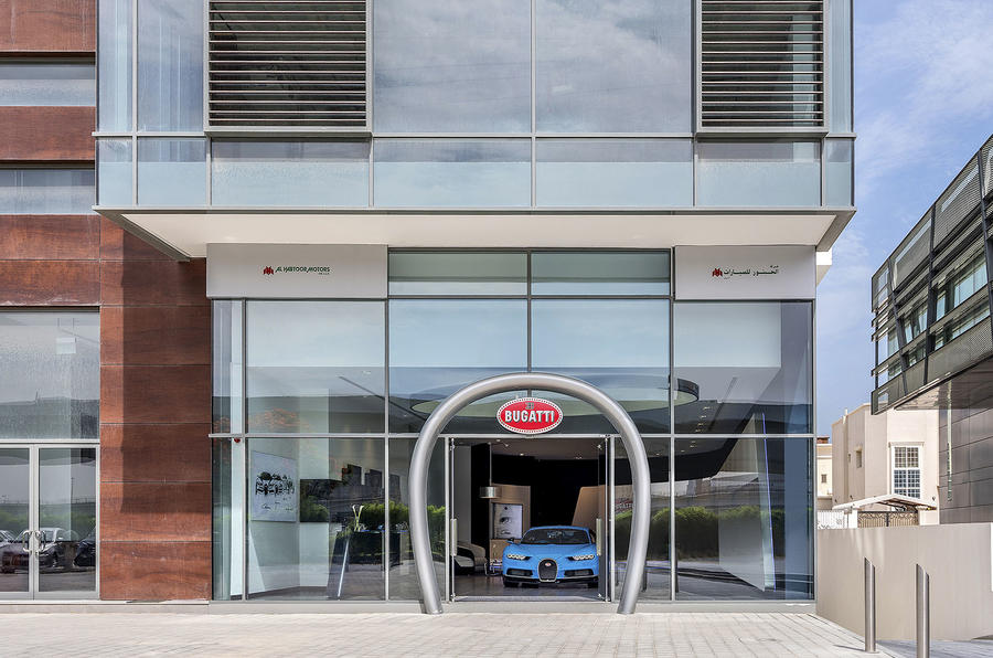 Bugatti Showroom in Dubai Happens To Be The Brand's Largest