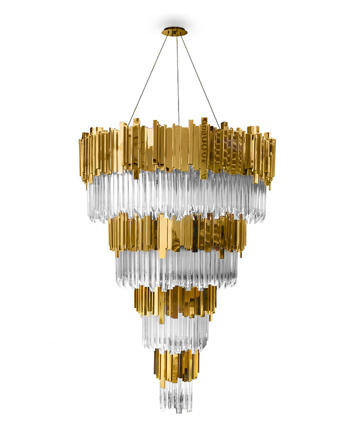 rosko design Rosko Design Newest Project Features Traditional Yet Modern Interior empire chandelier detail 01