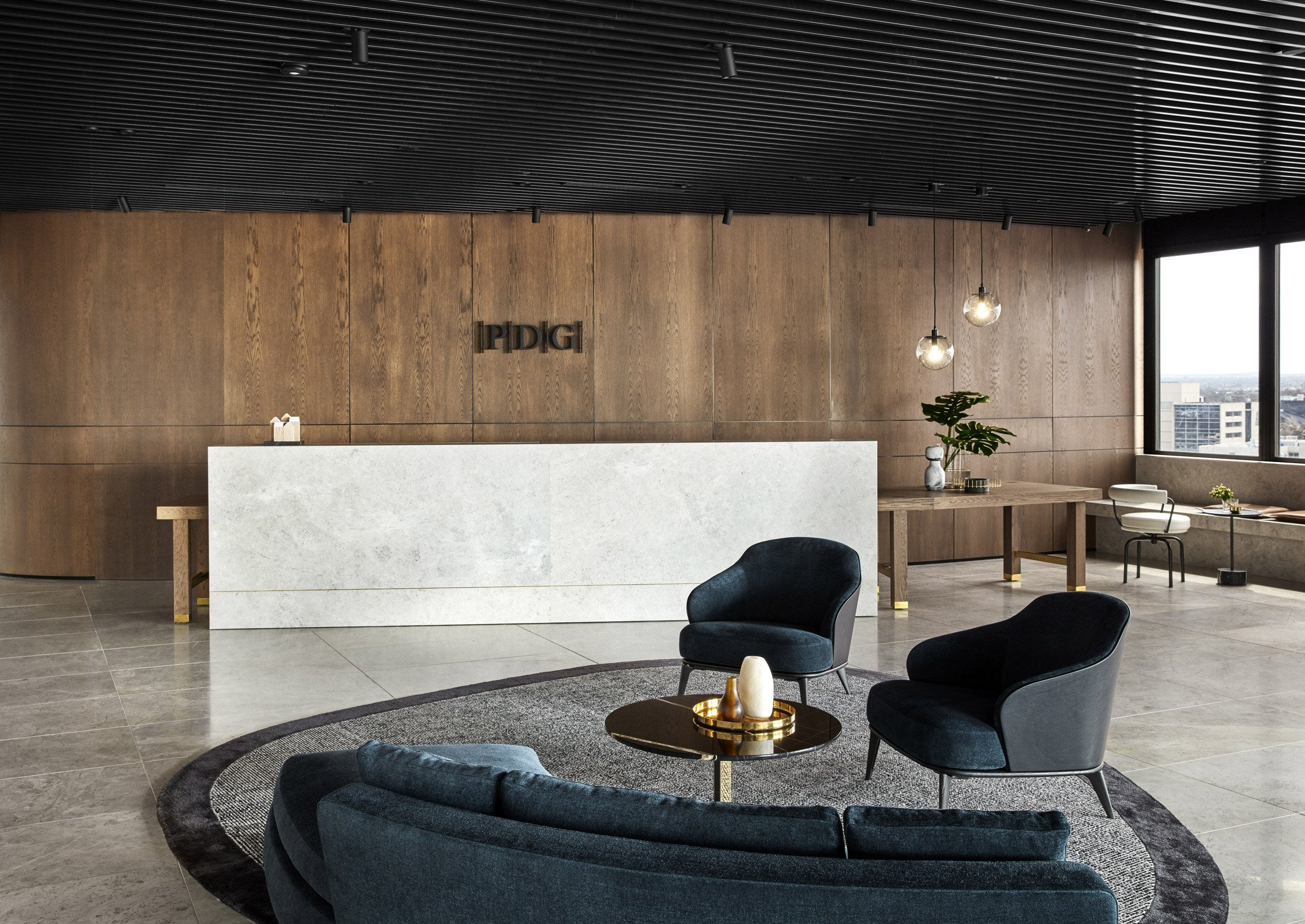 Studio Tate Incorporates Luxurious Details into PDG's Workspace studio tate Studio Tate Incorporates Luxurious Details into PDG's Melbourne Office Studio Tate Incorporates Luxurious Details into PDGs Workspace 2