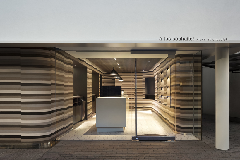 Glace et Chocolate by Studio Nendo Features Stacked Soil Walls