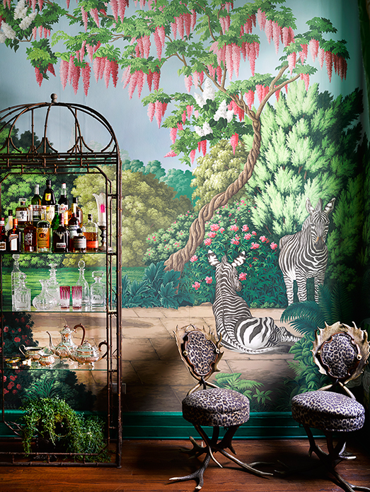 ken fulk Interior Design Project by Ken Fulk Features Exotic Patterns Interior Design Project by de Gournay and Ken Fulk Features Exotic Patterns