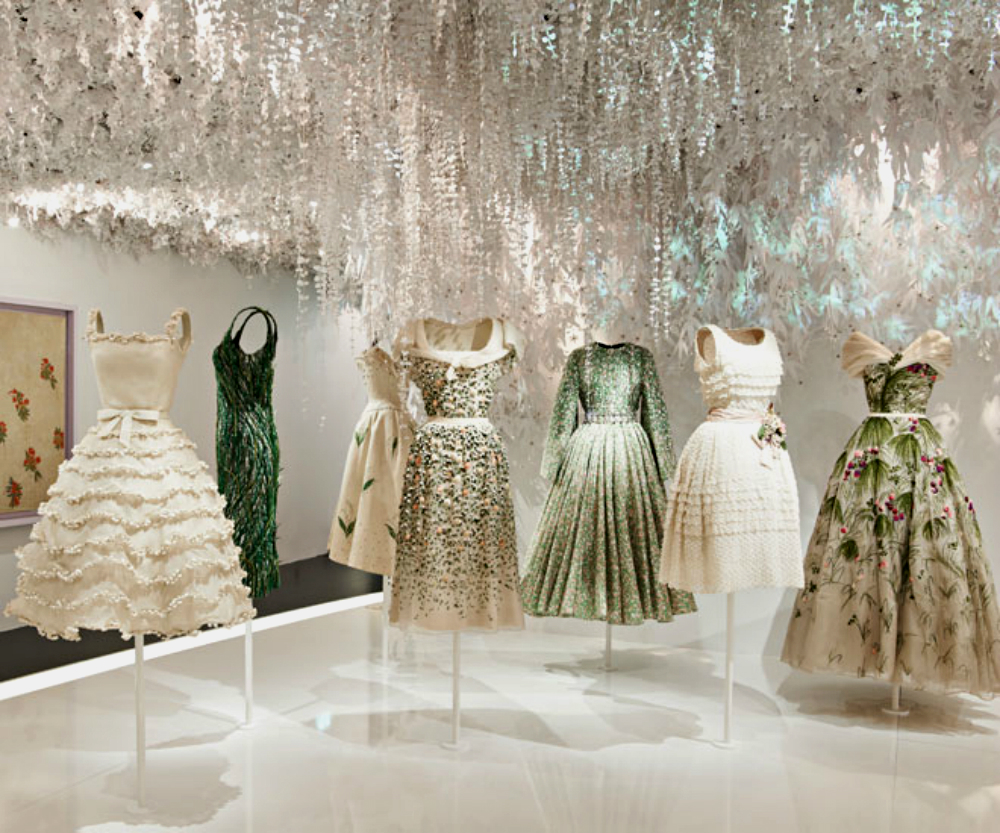 luxury brand christian dior exhibits at mus e des arts