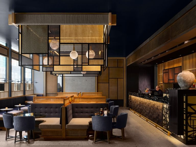 Nobu hotel shoreditch in london features asian inspired design for Shoreditch interior design