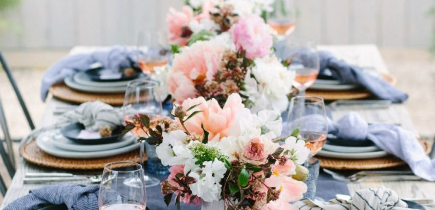 : table setting flowers - pezcame.com