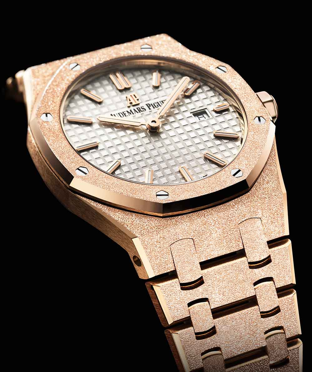 The Most Incredible Luxury Watches by Audemars Piguet audemars piguet The Most Incredible Luxury Watches by Audemars Piguet The 5 Most Incredible Luxury Watches by Audemars Piguet ROYAL OAK FROSTED GOLD
