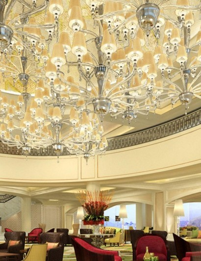 chandeliers 10 Beautiful Chandeliers for a Hotel Design luxury hotel lobby five star architecture 2560x1440 hd wallpaper 1455404 410x532