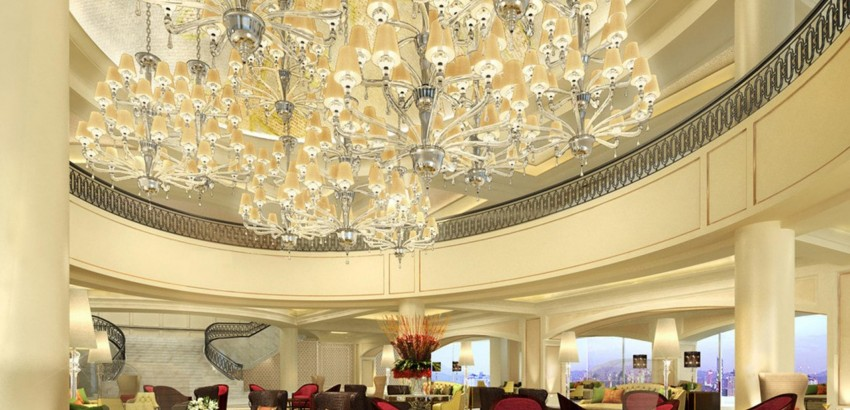 chandeliers 10 Beautiful Chandeliers for a Hotel Design luxury hotel lobby five star architecture 2560x1440 hd wallpaper 1455404 850x410