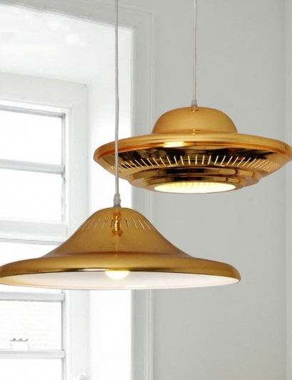 pendant lamps Spring Trends 2016: chic pendant lamps Modern Luxury Golden LED Pendant Light Flying Saucer UFO Shape Droplight Bedroom Bar Cafe Art Decorative 410x532