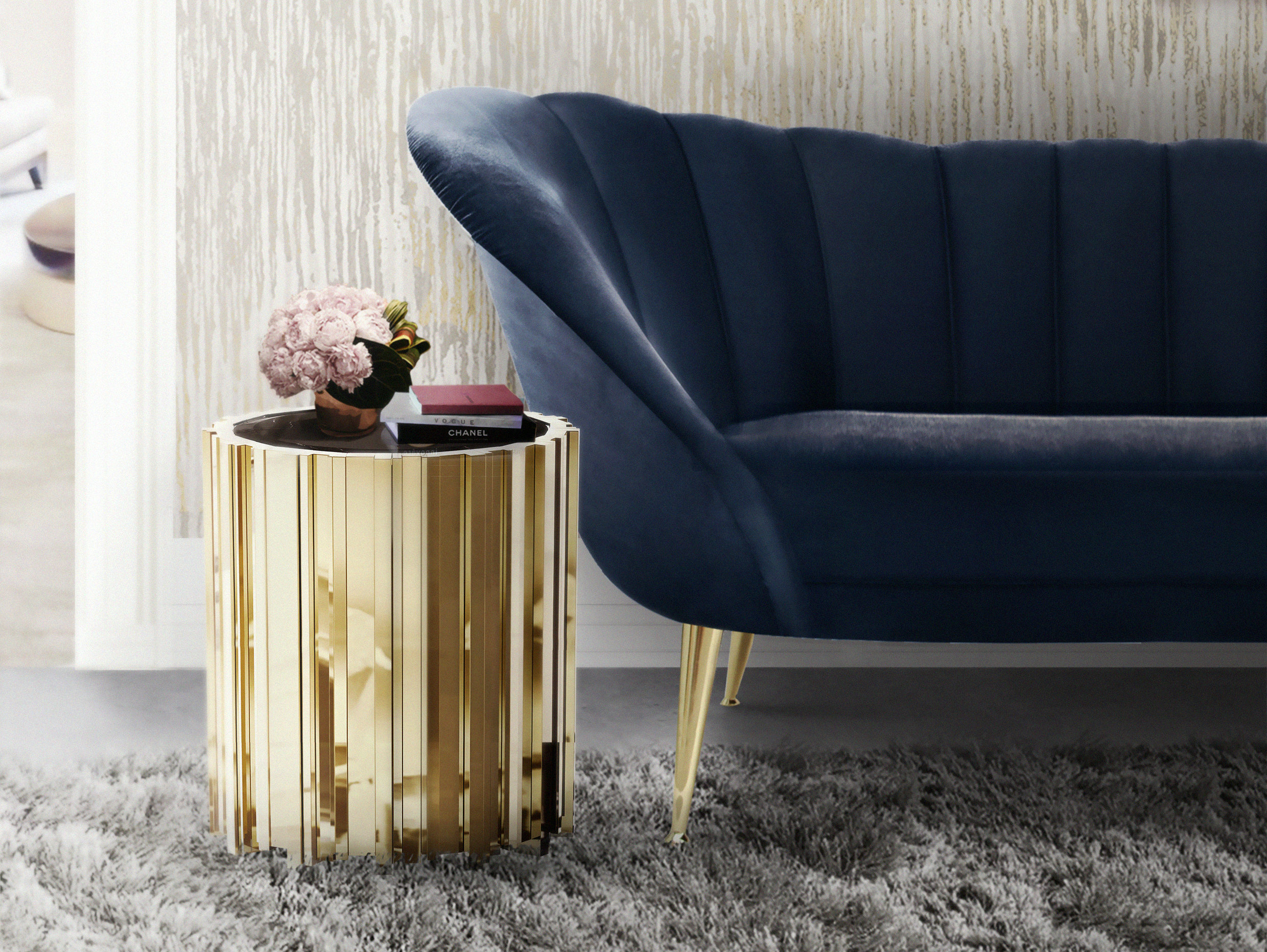 Brighten up your home with gold accents