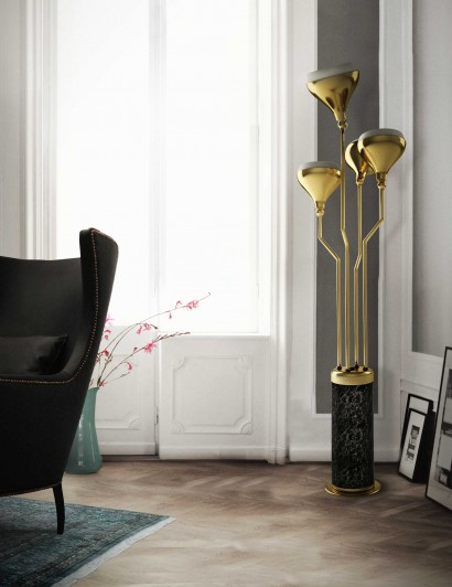 floor lamps Gold floor lamps to give your home a fancy look Gold floor lamps to give your home a fancy look 410x532