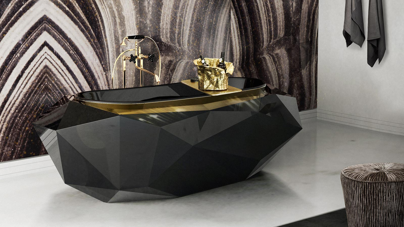 The best lighting for the most luxurious bathrooms bathroom trend Bathroom Trends: Black Finishes luxurious bathrooms1 bathroom trend Bathroom Trends: Black Finishes luxurious bathrooms1