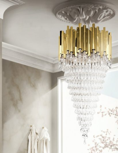 Gold chandeliers 5 Gold chandeliers with crystals to light up your world trump chandeleir 2 410x532