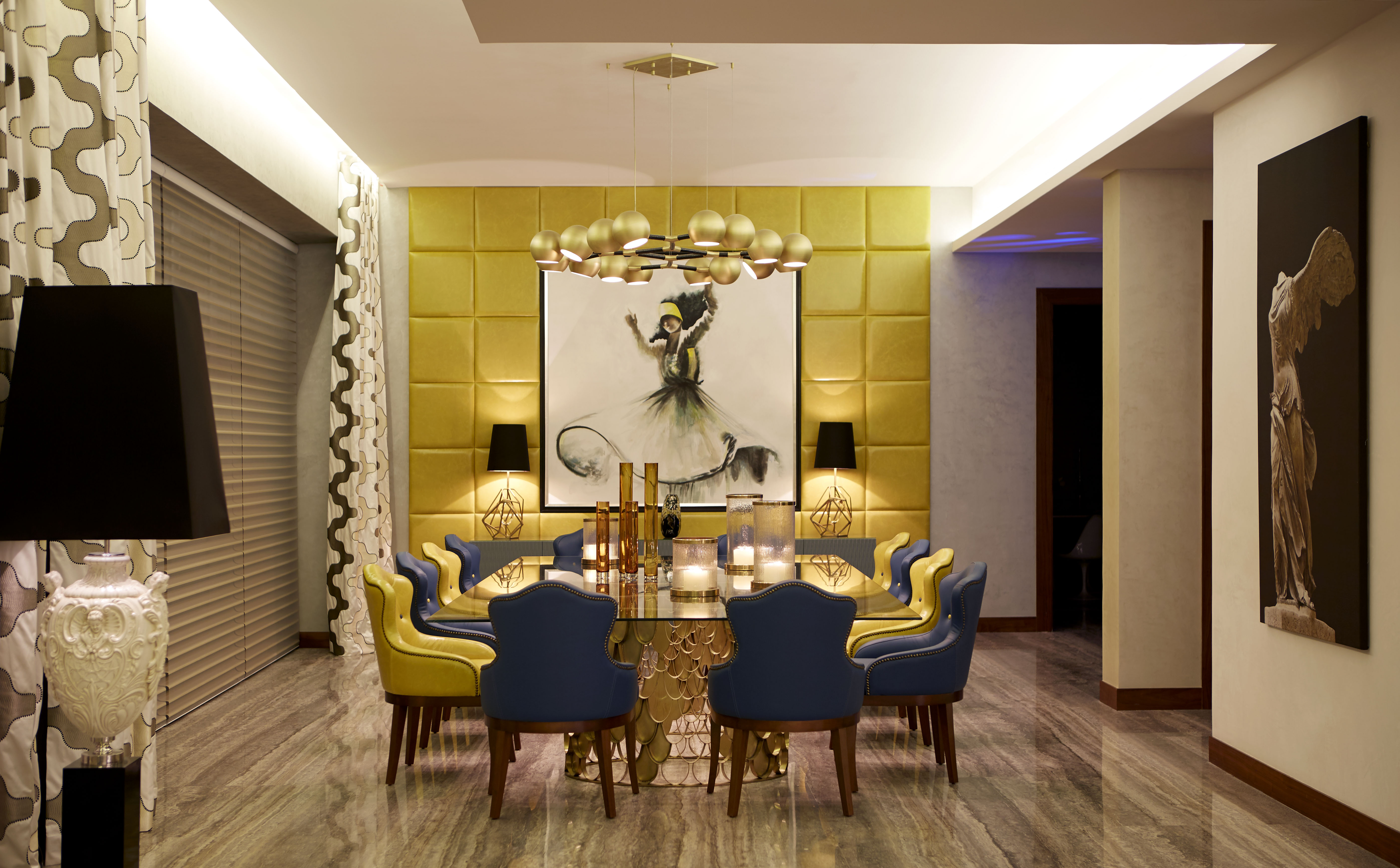 Dining Room Lighting Ideas Brabbu Horus For A Luxury Interior