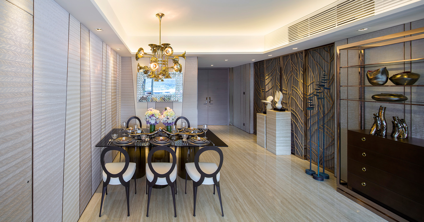 Dining room lighting ideas for a luxury interior kelly hoppen Top Interior Designer: the work of Kelly Hoppen Dining room lighting ideas Delightfull Botti kelly hoppen Top Interior Designer: the work of Kelly Hoppen Dining room lighting ideas Delightfull Botti