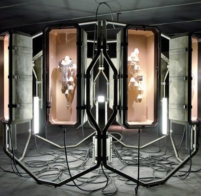 Didier Faustino creates art installation to display Hermès new jewellery collection - fashion house